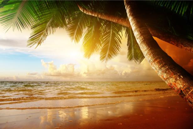 Фотообои море тропический пейзаж закат (sea-0000257)