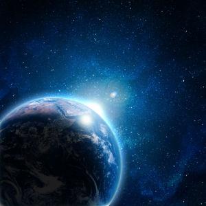 Фотообои планета космический пейзаж (space-0000066)