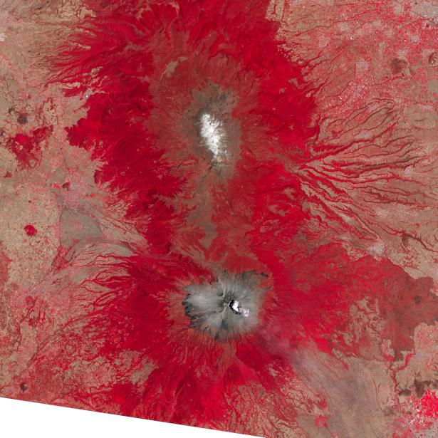 Фотообои 3д вулканы красные (terra-00048)
