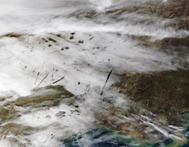 Фотообои для стен акватинта земли (terra-00240)