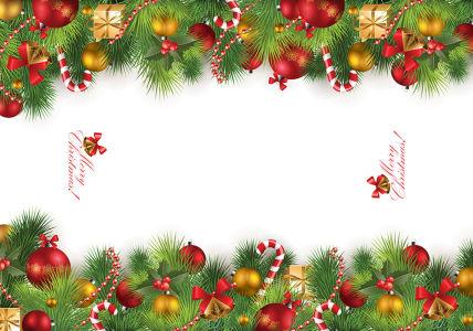 Скатерть Рождественские украшения (0141)