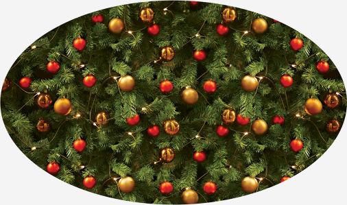 Скатерть овальная Новогодняя елочка (207-2)