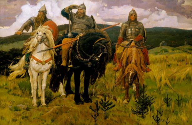 Фотообои Васнецов три богатыря (art-0000034)