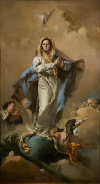 Картина с ангелами и херувимами Тьеполо (art-0000652)