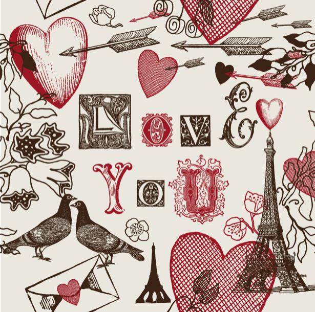 Фотообои к дню святого Валентина (background-0000375)