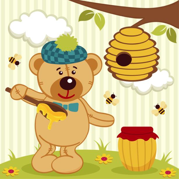 Мишка Тедди детские фотообои (children-0000299)