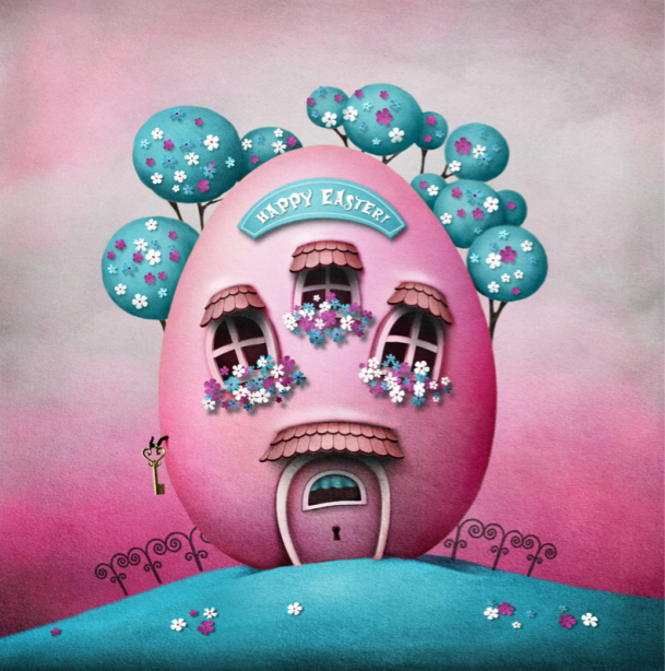 Детские фотообои домик в яйце (children-0000349)