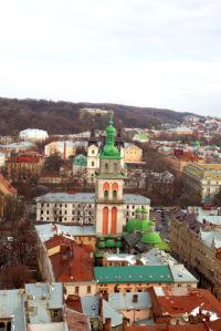 Фотообои Львiв собор костел (city-0000644)