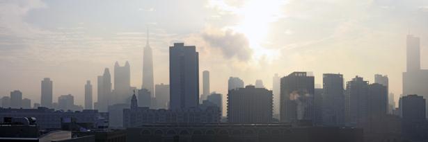 Фотообои панормаа мегаполис дымка (city-0000805)