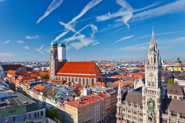 Фотообои город мариенплац мюнхен (city-0001078)