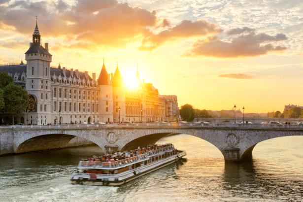 Фотообои Париж Сена (city-0001303)