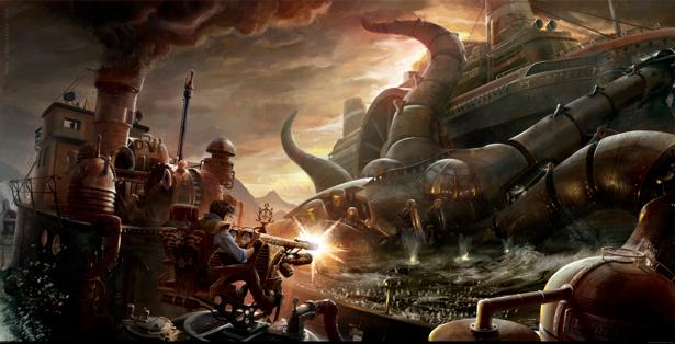 Фотообои стимпанк война будущего (fantasy-0000055)