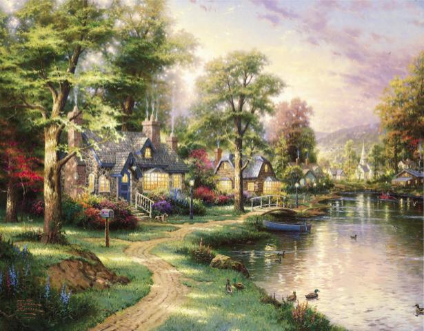 Фотообои сказочная деревня (fantasy-0000108)