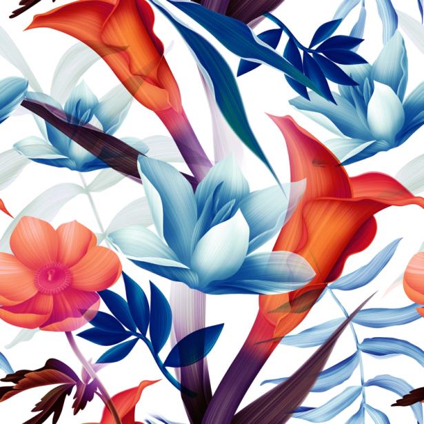 Обои на стену цветочная композиция (flowers-0000677)