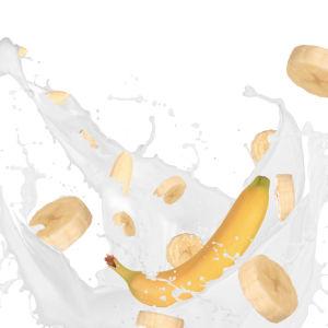 Фотообои в кухню Банан в молоке (food-0000071)