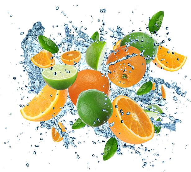 Фотообои Лайм и апельсины (food-359)