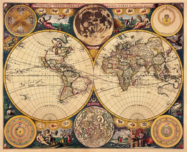 атлас, география, карты, старая карта (map-0000122)