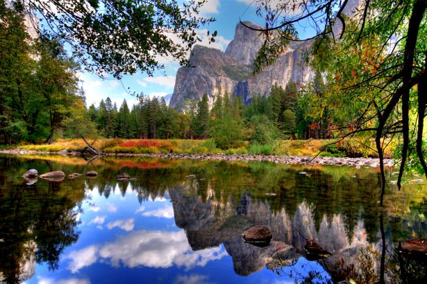Фотообои виды природы горное озеро (nature-00082)
