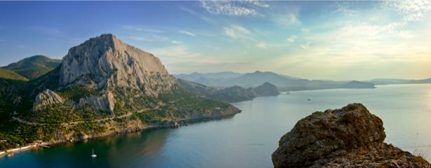 Фотообои горы панорама море (nature-00425)