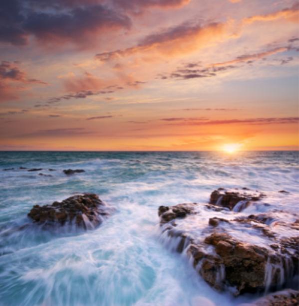 Фотообои морской вид берег закат (sea-0000094)