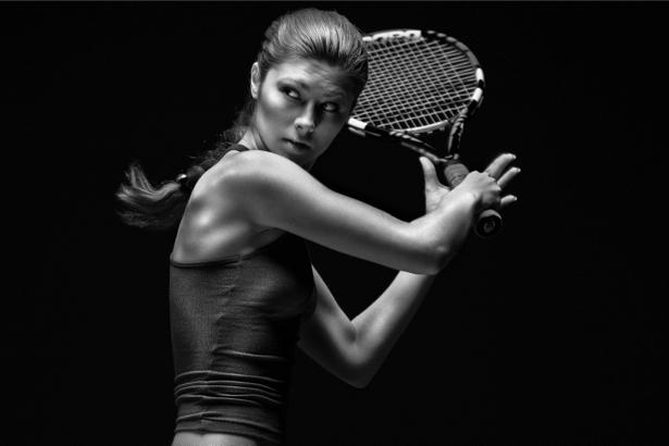 Фотообои теннисистка модель (sport-0000014)