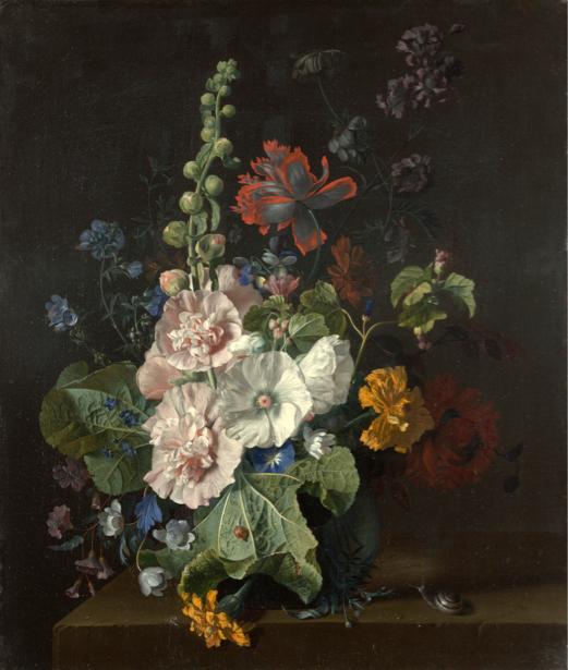 Фотообои Мальвы цветы в вазе (still-life-0060)