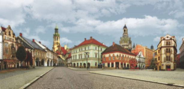 Фотообои Чехия улицы старые (art-printmaking-00011)