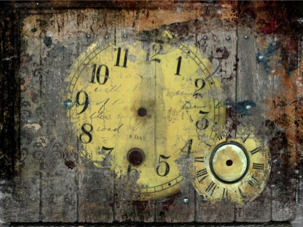 Фотообои коллаж часы (background-0000087)