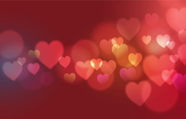 Фотообои фон из сердец (background-0000371)