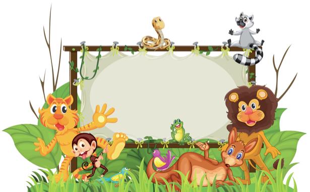 Фотообои детские животные зоопарке (children-0000259)
