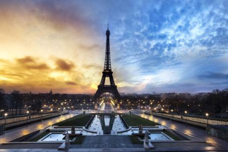 Фотообои Париж вид на город Эйфелева (city-0001282)