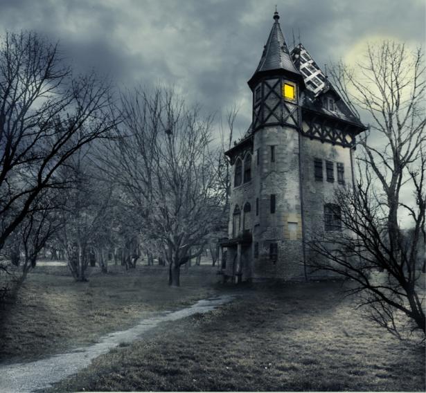 Фотообои дом с привидениями (city-0001398)