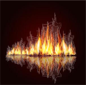 Фотообои пламя костра 2 (fantasy-0000103)