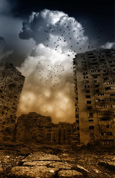 Фотообои апокалипсис в городе (fantasy-0000125)