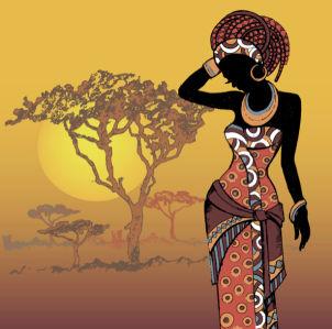 Фотообои Африка африканка (fantasy-0000163)