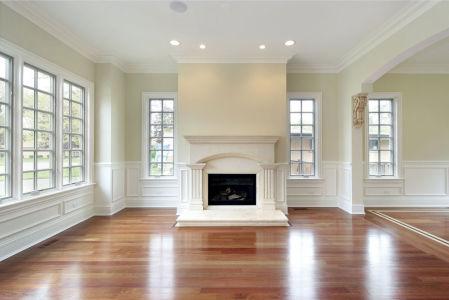 Фотообои белая комната с камином (fire-015)