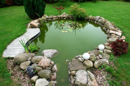 Фотообои водоем в саду (flowers-0000192)