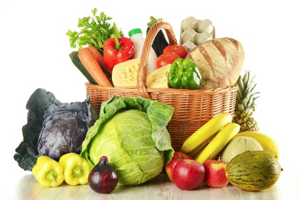 Фотообои для кухни корзина с едой (food-0000133)