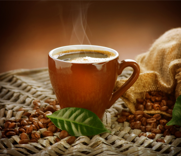 Горячий кофе Фотообои для кухни (food-0000151)