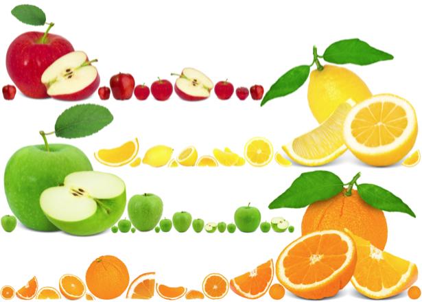 Фотообои на кухню фруктовое ассорти (food-0000235)