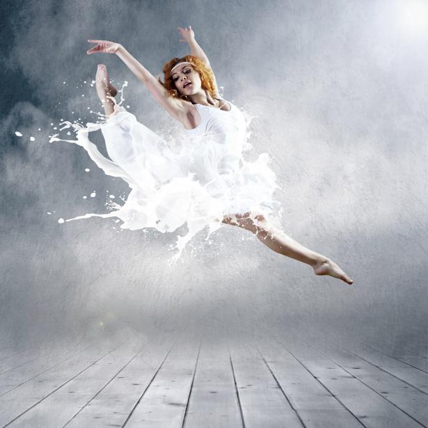 Фотообои молочные всплески танец (glamour-0000002)