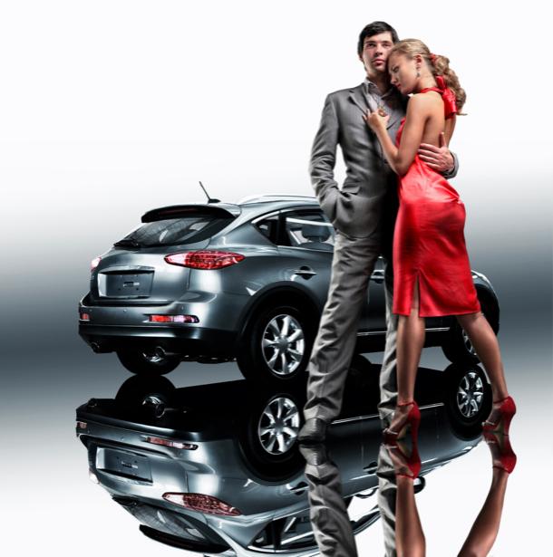 Фотообои девушка  мужчина реклама авто (glamour-0000035)
