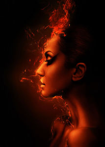 Фотообои профиль в огне (glamour-296)