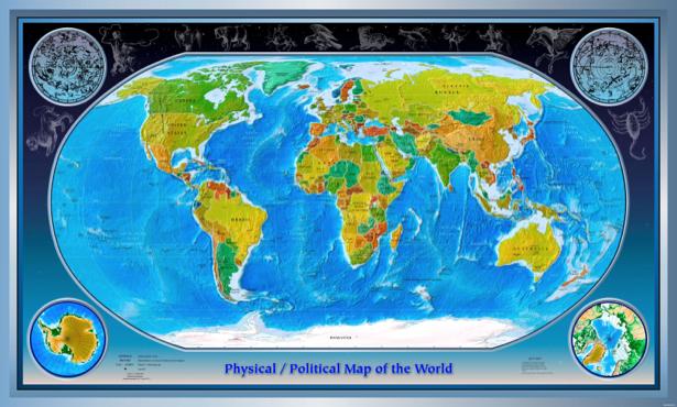 география, карты, карта мира (map-0000018)