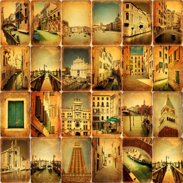 Фотообои винтаж фото открытки (retro-vintage-0000174)