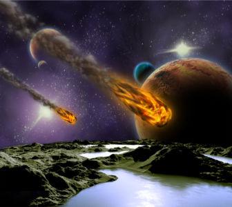Фотообои астеройды (space-0000047)