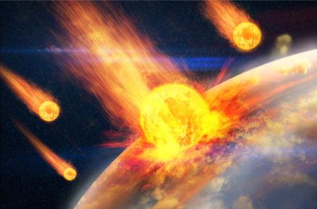 Фотообои метеориты космический пейзаж (space-0000071)