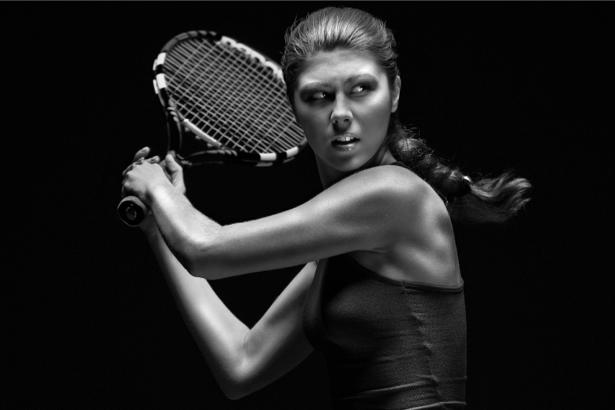 Фотообои теннис теннисистка модель (sport-0000013)