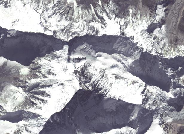 Фотообои снежные горы аэрофотосъемка (terra-00284)