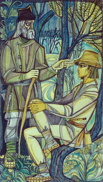 иллюстрации к произведению Л. Украинки - Лесная песня (ukraine-0171)